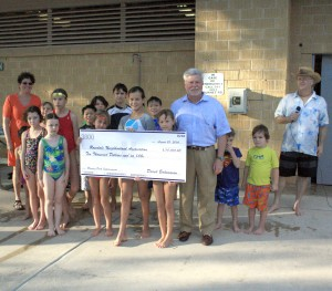Lamar Central develop delivers $10K check to Ramsey Park Fund