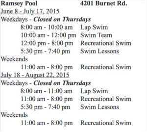 COA 2015 ramsey pool schedule2