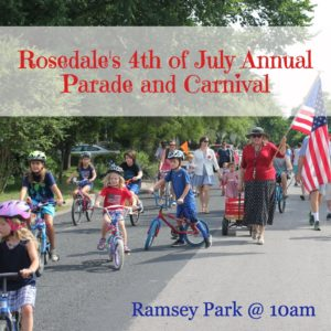 Rosedale 4th of July graphic